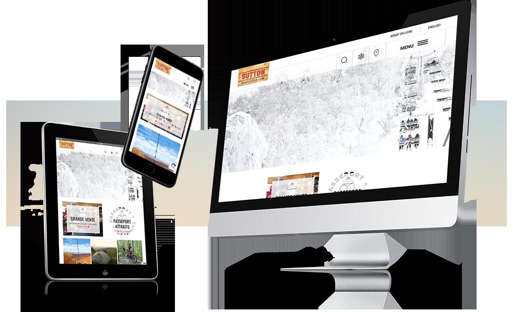 Site Web responsive pour Mont Sutton