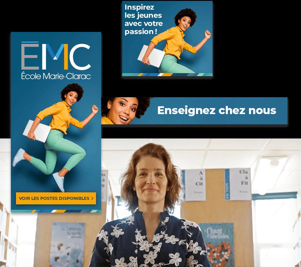 École Marie-Clarac - bannières web