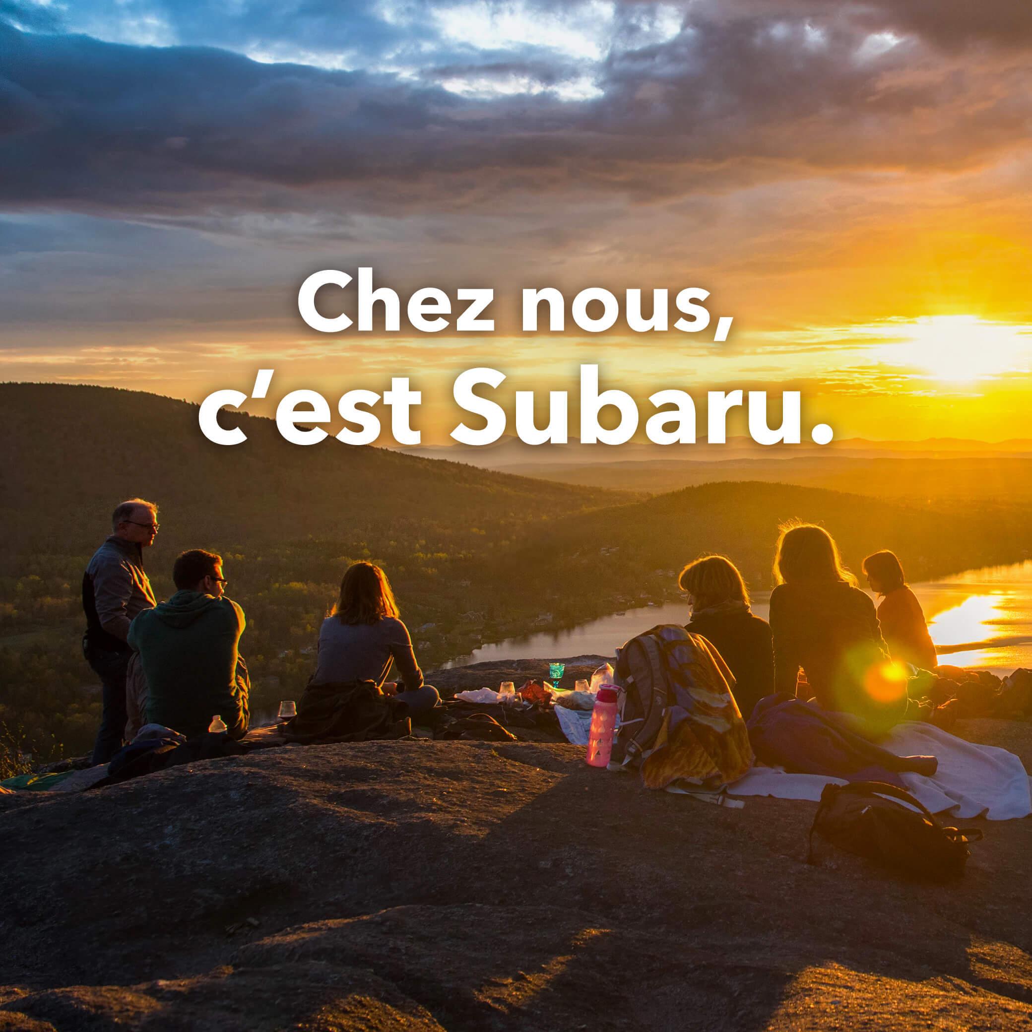 Chez nous, c'est Subaru.